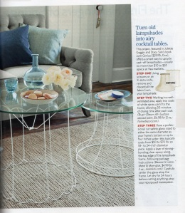 wire lampshade table CL