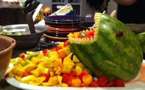 Lainey shark fruit bowl