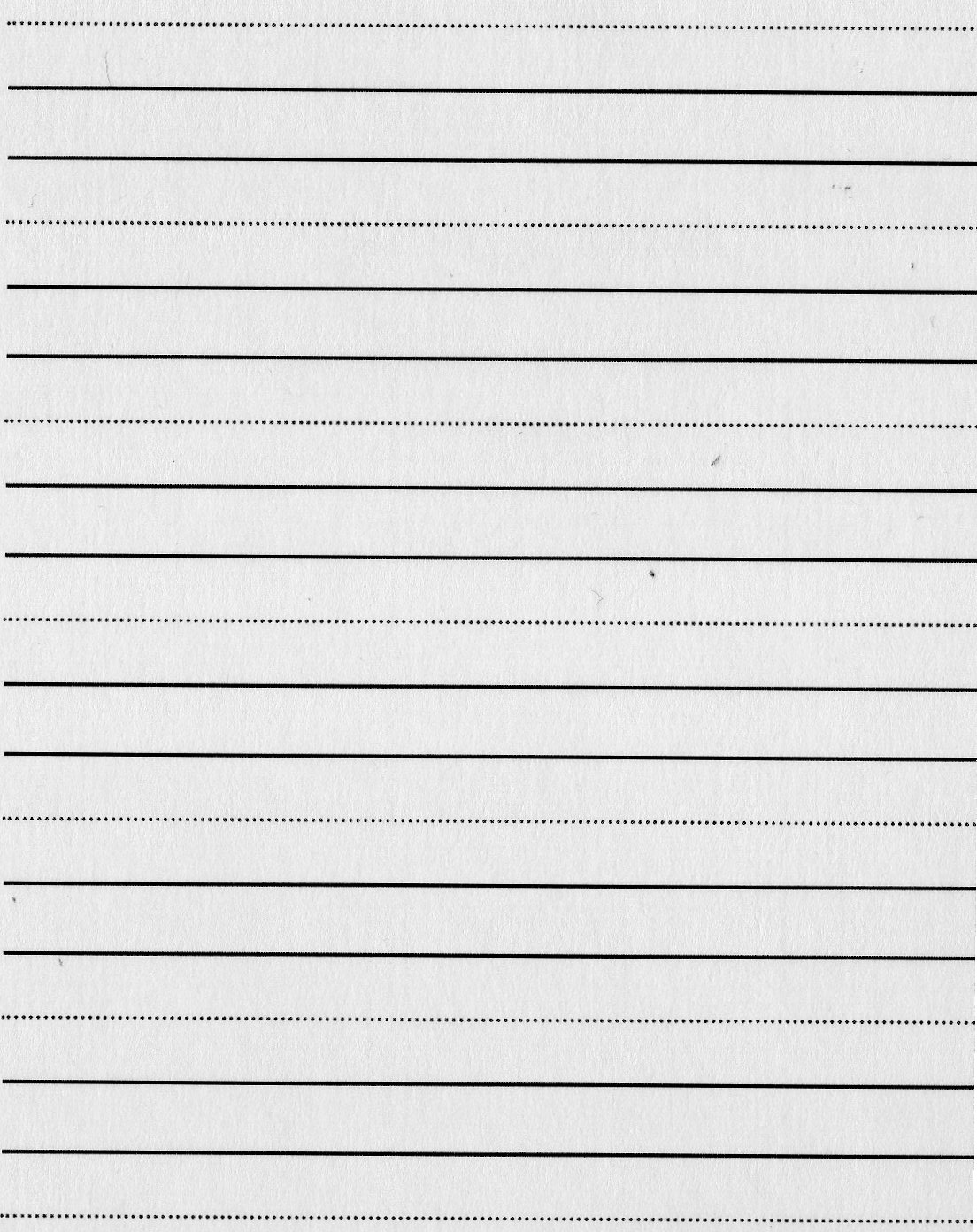 Dotted lined paper